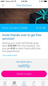 fantastic referrals programme screenshots