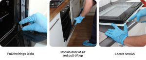 oven door disassembly instructions