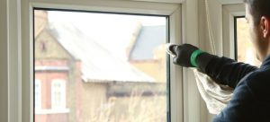 Cleaning uPVC window frames
