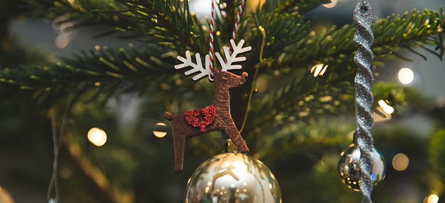 decorated christmas tree nordmann fir
