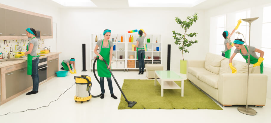 Domestic cleaning by trained cleaners
