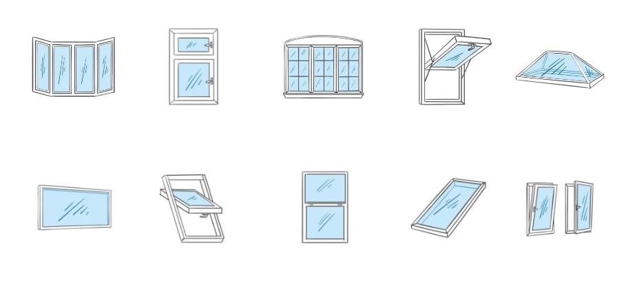 Popular types of windows in UK