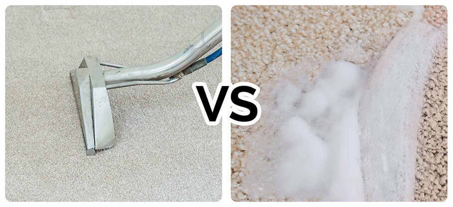 Hot water extraction (Steam cleaning) vs Carpet Shampooing