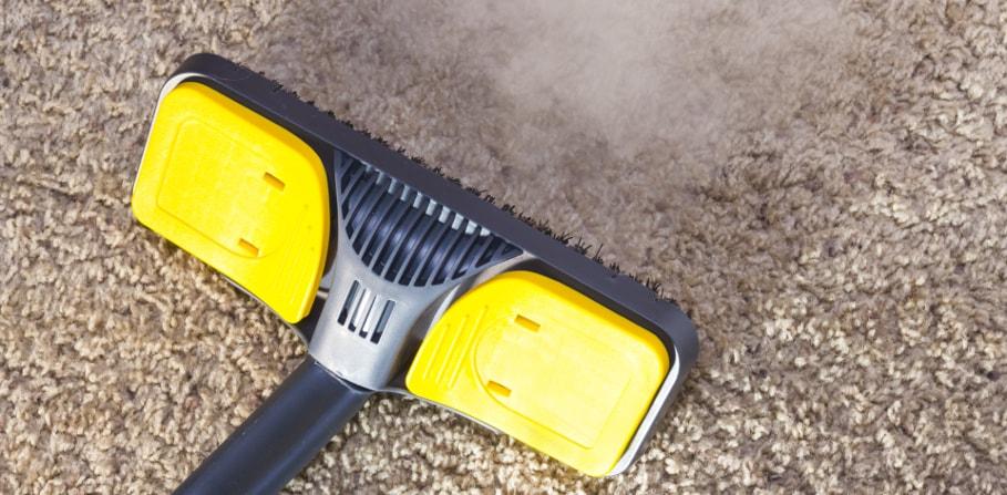Carpet steam cleaning method