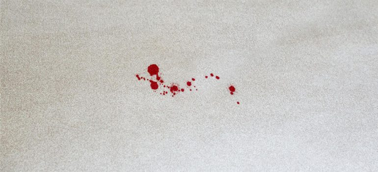 how to get rid of blood stains out of carpet
