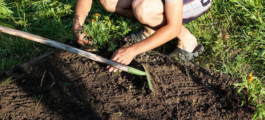how to level soil before laying turf