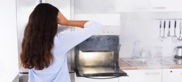 plastic burning in oven