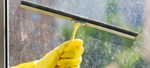 How to clean hard water stains from glass
