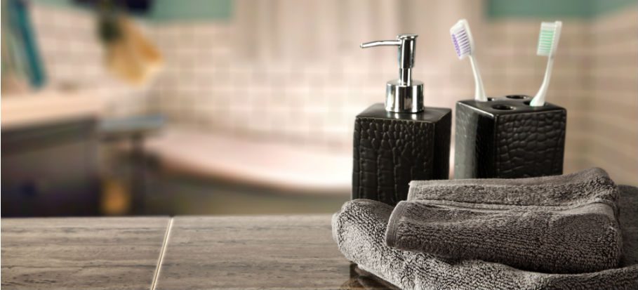 How to declutter your bathroom counters