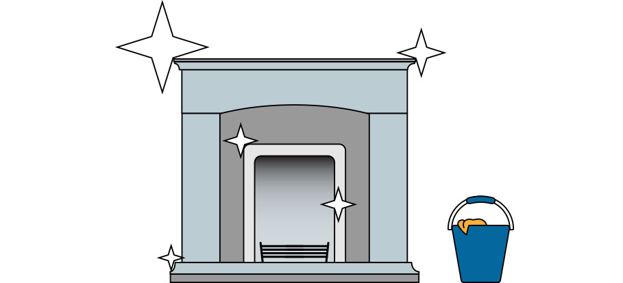 Cleaning Limestone Fireplaces