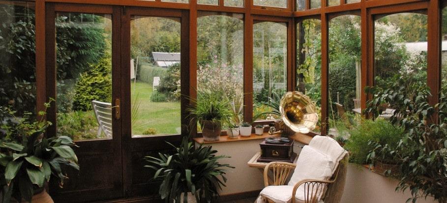 cozy conservatory