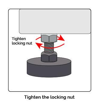 tighten locking nut graphic