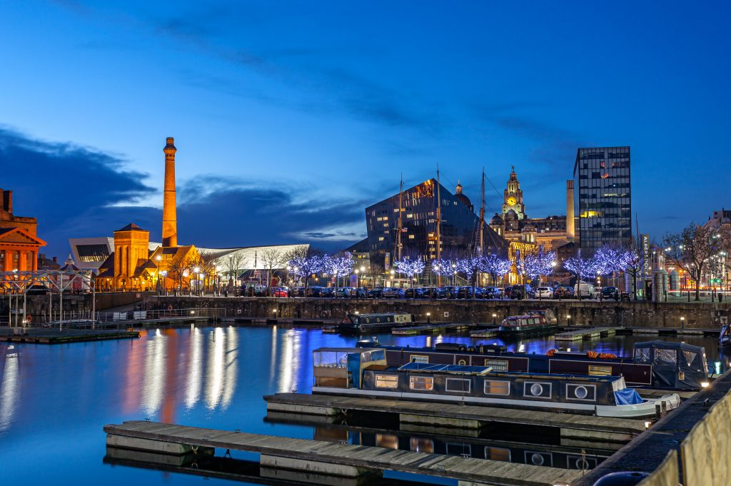 Liverpool, Albert dock at Dusk