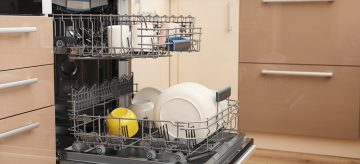 open dishwasher - cleaning a dishwasher