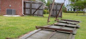 fallen garden fence