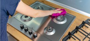 how to clean a stainless steel hob like a pro