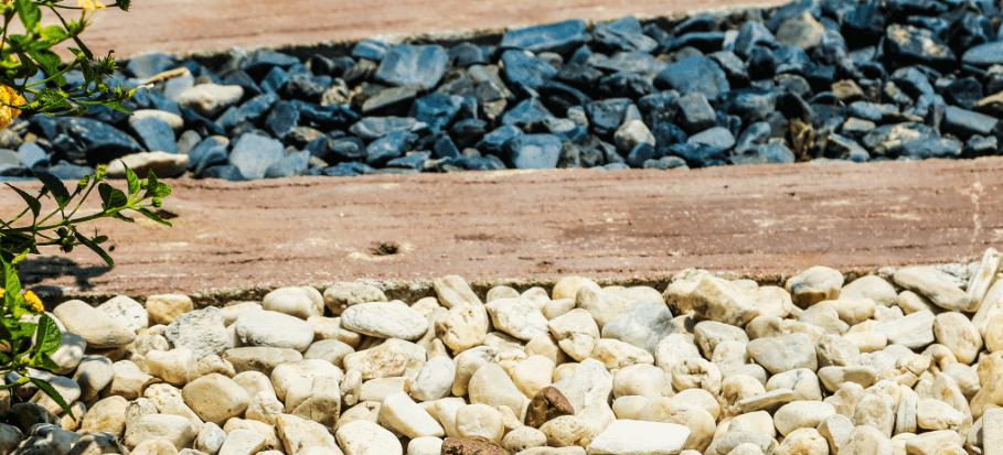 landscape gravel between walk path