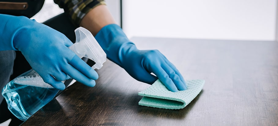 Tips for sanitisation and disinfection