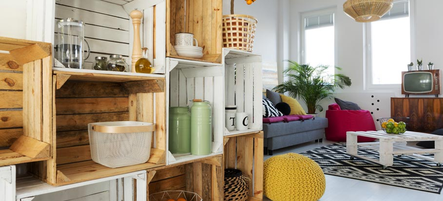 creating storage in small spaces