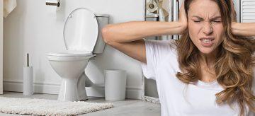 Noisy toilet after flushing